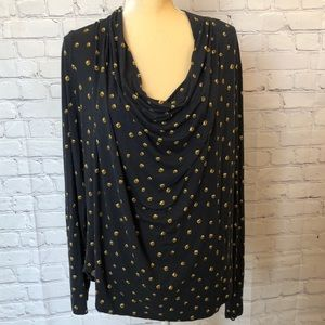 Michael Michael Kors cowl neck long sleeve blouse